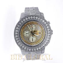 Men's Breitling Super Avenger - Iced Out . Appraisal Value: $29,600