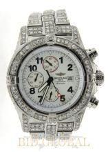 Stainless Steel Breitling Super Avenger with White Diamonds . Appraisal Value: $50,400