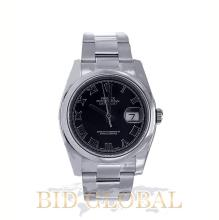 Men's Stainless Steel Black Dial Rolex Datejust Model 116200 . Appraisal Value: $19,200