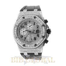 Audemars Piguet Royal Oak Offshore with Diamond Dial and Bezel . Appraisal Value: $78,000