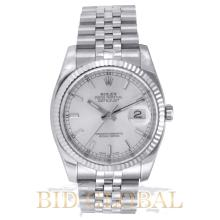 Rolex 36MM Date Just Stainless Steel and White Gold . Appraisal Value: $23,200