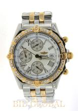 Men's Breitling Crosswind Two Tone Diamond Watch . Appraisal Value: $28,000