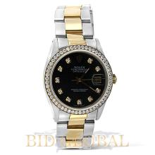 Men's Datejust Rolex Two Tone Diamond Watch . Appraisal Value: $17,200