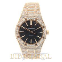 Men's Audemars Piguet Royal Oak Pink Gold with Diamonds . Appraisal Value: $224,000