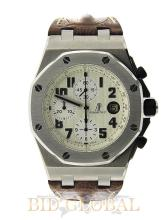 Stainless Steel AP Royal Oak Offshore Safari with Brown Strap . Appraisal Value: $58,800