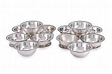 A SET OF TWELVE CONTINENTAL SILVER TERRAPIN DISHES & COVER
