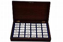 A RARE HALLMARKED COLLECTION OF 36 GREAT CARS SILVER INGOTS