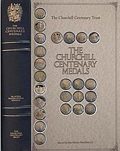 THE CHURCHILL CENTENARY MEDALS TRUSTEES PRESENTATION EDITION 24 SILVER GILT MEDALS IN PRESENTATION FOLDER