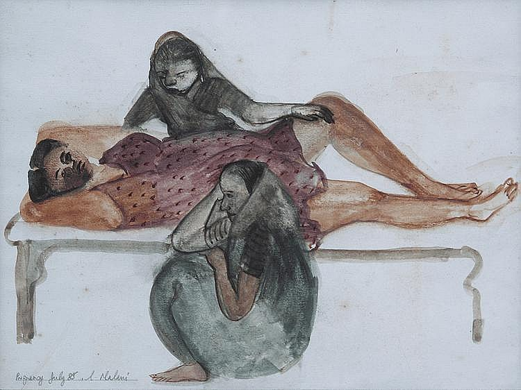 Nalini Malini (b. 1946), Pregnancy