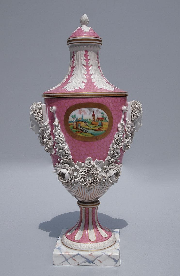 A European (probably Austrian) lidded urn