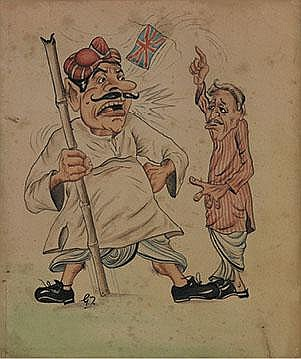 Gaganendranath Tagore (1867-1938), Untitled (Cartoon)