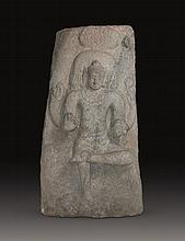A GRANITE PANEL OF SHIVA, Chola Dynasty, South-India, 13th century