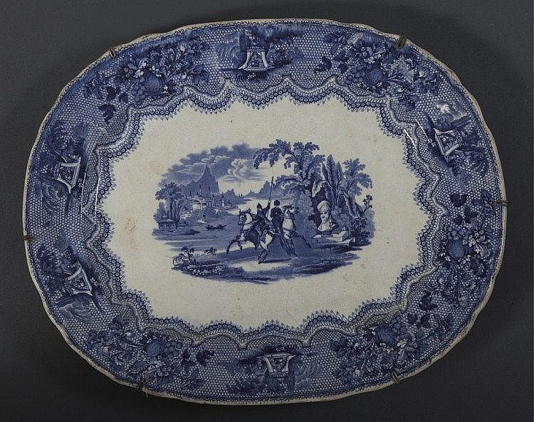 A CHINESE EXPORT PORCELAIN DEPICTING A TURKISH