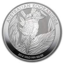 Fine Silver - 1 kilo - 2014 Australia Kookaburra BU