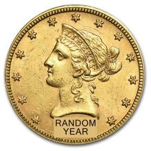 Circulated $10 Liberty Gold Eagle (Random Years)
