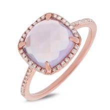 Natural 3.03 ctw Diamond & Amethyst Ring 14KT Rose Gold - SKU#-W25N1-S8104