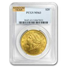 MS-63 PCGS $20 Liberty Gold Double Eagle (Random Year) - BR120759