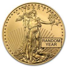 Brilliant Uncirculated American Eagle 1/4 oz Gold (Random Year)