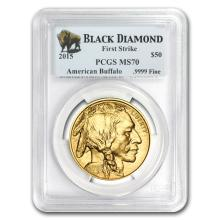 MS-70 PCGS - 2015 1 oz Gold Buffalo (FS, Black Diamond)