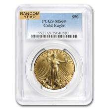 MS-69 PCGS - 1 oz Gold American Eagle (Random Year)