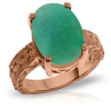 14KT Rose Gold 6.5 ctw Emerald Ring -REF#- H102U6- 75279