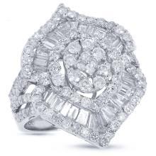 Genuine 3.68ct Diamond Ring 18K White Gold - REF#F317Z7