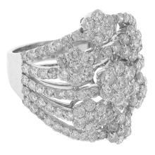 Genuine 3.16ct Diamond Ring 18K White Gold - REF#L283V9