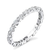 Natural 1.24 ctw Diamond Eternity Ring 14KT White Gold Sz10.25 - SKU#-Y148X3-S8196