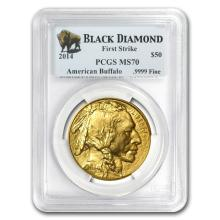 MS-70 PCGS - 2014 1 oz Gold Buffalo (FS, Black Diamond)