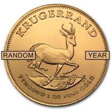 Brilliant Uncirculated S. Africa Krugerrand 1 oz Gold (Random Year)