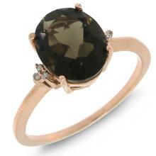 Natural 2.17 ctw Diamond & Smokey Topaz Ring 14KT Rose Gold - SKU#-C17T3-S8095