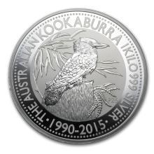 Fine Silver - 1 kilo - 2015 Australia Kookaburra BU