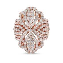 Genuine ?4.10ct Diamond Ring 18K Rose Gold - REF#A329J4