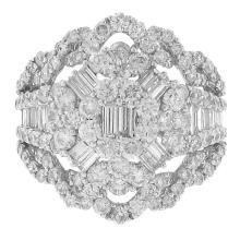 Genuine 3.03ct Diamond Ring 18K White Gold - REF#Z260M3