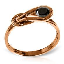 14KT Rose Gold 0.50 ctw Black Diamond Ring - REF#- Z45M2- 85270