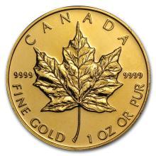 Brilliant Uncirculated Canada Maple Leaf 1 oz Gold (Random Year) - BRA#147736