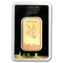 Fine Gold Bar 1 oz - Holy Land Mint Dove of Peace (In Assay) - BRA#147808