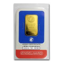 Fine Gold Bar 1 oz - Engelhard (In Assay) - BRA#147856