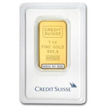 Fine Gold Bar 1 oz - Credit Suisse (In Assay) - BRA#147867
