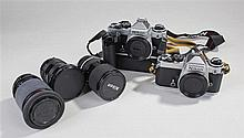 Nikon FE 35mm camera, serial number 3224579, toget