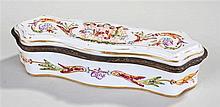 19th Century Capodimonte porcelain casket, decorat