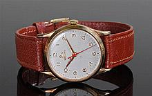 Record 9 carat gold gentleman's wristwatch. The wh