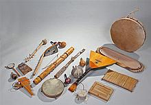 Mixed musical instruments, include various strung