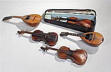 Neopolitan twelve string bowl backed mandolin, tog