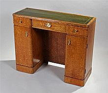 1920's Chestnut desk. The green tooled leather ins