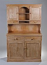 Pine dresser and rack. The dresser back with short
