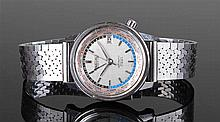 Seiko World time automatic stainless steel gentlem
