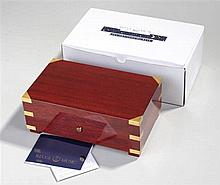 Reuge of St Croix music box. The mahogany box with