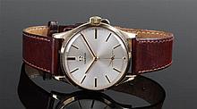 Omega 9 carat gold gentleman's wristwatch, the sig