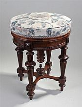 Victorian rosewood piano stool. The stuff over uph